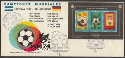Uruguay, 1974 Events & Conventions Min. Sheet Illustrated FDC. VERY SCARCE