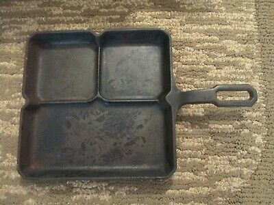 Vintage**Rare** Griswold Cast Iron Colonial Breakfast Skillet  #666