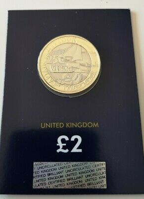 2020 Captain James Cook Two Pounds £2 Coin Brilliant Uncirculated BUNC BU UK