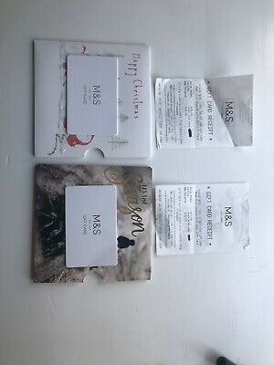 Two £15 M&S Gift Vouchers With Receipt
