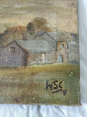Winston Churchill Original vintage oil painting canvas hand signed not a print