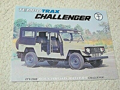 1980's TEMPO TRAX CHALLENGER (INDIA) SALES BROCHURE...