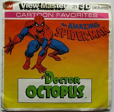 2 View-Master 3D Bildscheiben - Amazing Spider-Man Vs. Doctor Octopus + Booklet