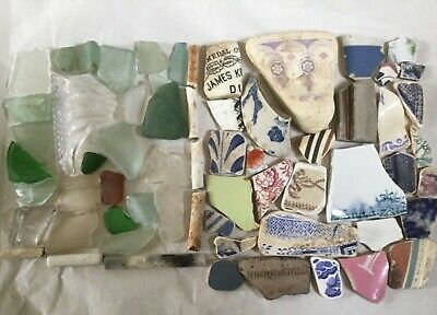 Sea Glass and Pottery Beach Finds