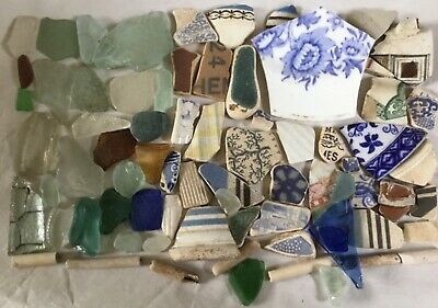 Sea Glass & Pottery Beach Finds