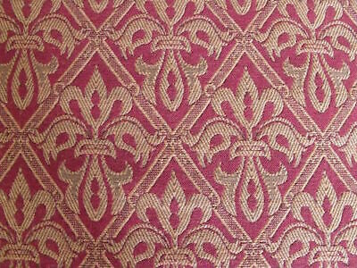 Lee Jofa English Rayon Cotton Flax Fleur de Lys Indian Red Upholstery