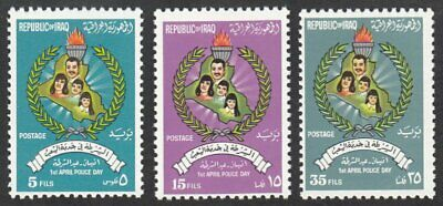 Iraq, 1976 Police Day. SG 1234-6 Unmounted Mint MNH