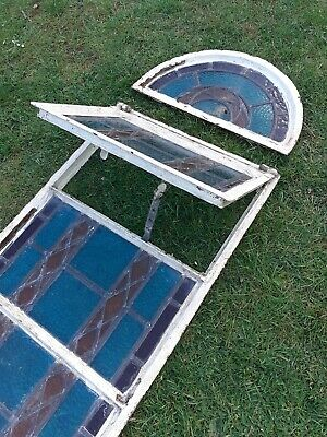 Original 1930's Stain Glass Window in 3 sections