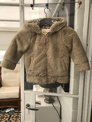 Girls Mini Boden Teddy Bear Coat - Age 4-5 Years