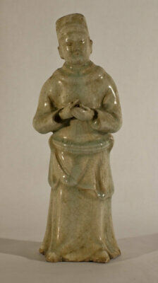 Chinese Qingbai Glazed Pottery Court figure