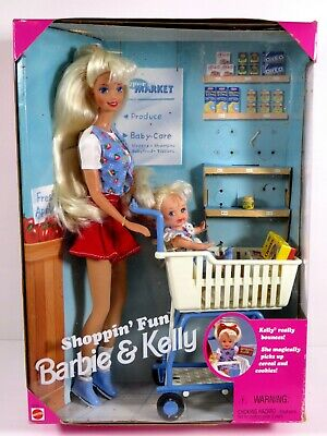 **Nib Barbie Doll 1995 Shoppin' Fun Barbie & And Kelly 15756