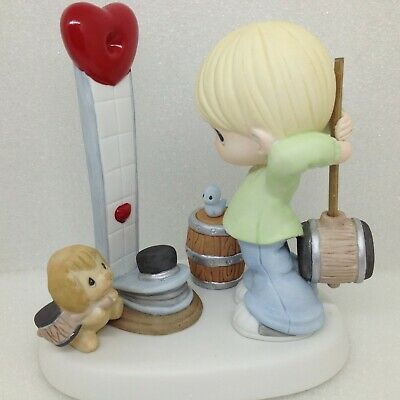 Precious Moments Our Love is Strong 123006 Bird Puppy Carnival Figurine New