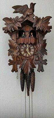 Danbury Mint Hand Crafted Black Forest Cuckoo Clock Inc Cert of Authenticity