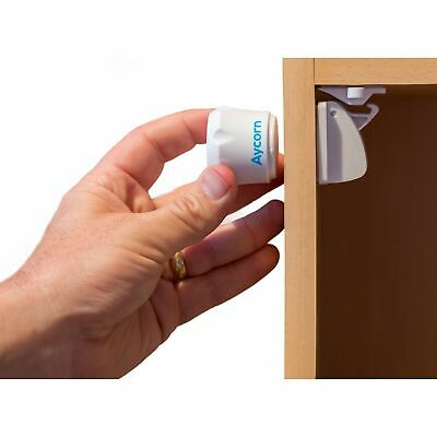 AYCORN Child & Baby Safety Proof Magnetic Cupboard Locks, 10 Locks & 2 Keys