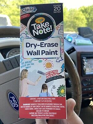 Crayola Take Note! Dry-Erase Wall Paint 20 Sq Ft
