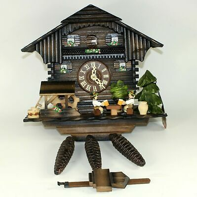 MUSICAL Beer Drinker CUCKOO CLOCK 1 day musical animated - NEW OLD STOCK - FB24