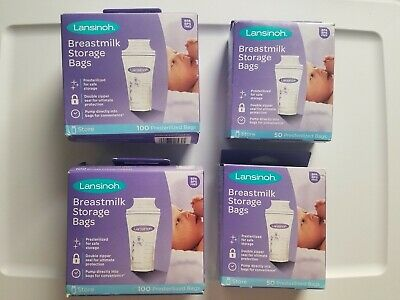 Lansinoh Breastmilk Storage Bags, approximately 300 count