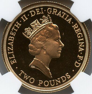Great Britain 1986 Commonwealth Games 2 Pounds Gold NGC PF-69 ULTRA CAMEO