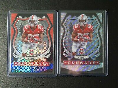 (2) 2020 Prizm Draft Picks Terry McLaurin Crusade #/99 #/299 Lot CMA