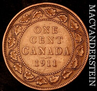 Canada: 1911 One Large Cent - Scarce  Better Date  #NR7203