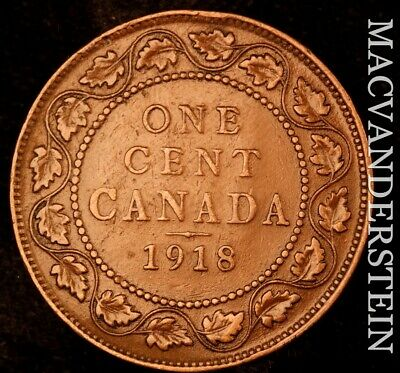Canada: 1918 One Large Cent - Scarce  Better Date  #NR7209