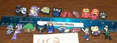 JIBBITZ CROC RUBBER SHOE CHARMS! Mix Lot of 19 - Cars - Spider-man - Disney