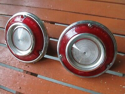 Nos 65 1965 Chevy Corvair Back Up Light Reverse Pair