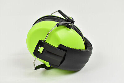 Toddler/Kids Ear Protection Safety Noise Headphone Earmuffs- Neon Lime Green