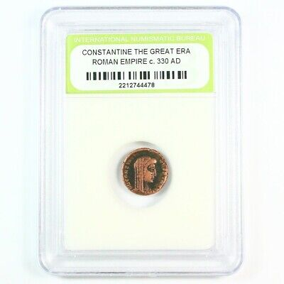 Ancient Roman Constantine the Great Era Coin c 330 AD - Exact Coin Shown 8489