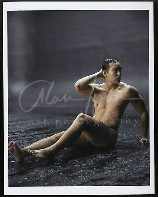 11x 8.5 Signed Original Art Male Photo (9) Tristan sitting in the rain