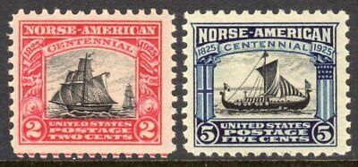 United States Scott # 620-21 VF MNH 1925 Norse - American