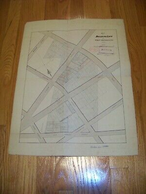 1870 Map Building Lots West Elizabeth NJ James S. Vosseller Davenport & Hinman
