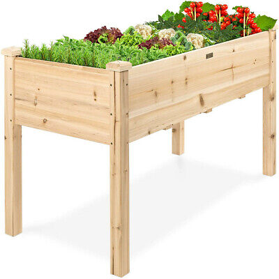 """46"""" Raised Bed Wooden Planter Grow your own Vegetables Garden or Allotment"""