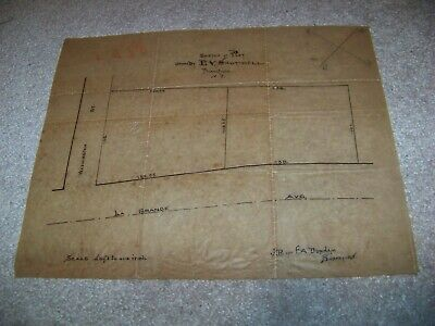 1800's Vellum Map E. V. Shotwell Plainfield New Jersey Dunham Surveyors
