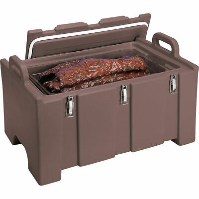 Cambro 40 Qt Cooler / Insulated Food Carrier, Molded Handles Dark Brown 100Mpc