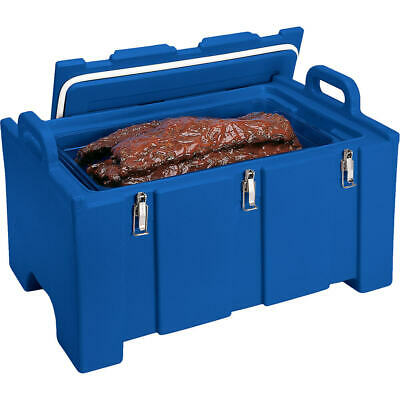 Cambro 40 Qt Cooler / Insulated Food Carrier, Molded Handles Navy Blue 100Mpc