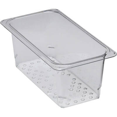 """Cambro Perforated Pan / Colander, 1/3 Gn, 5"""" Deep, 6Pk Clear 35Clrcw-135"""