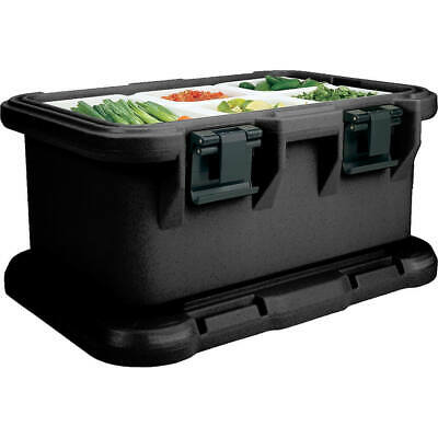 """Cambro Insulated Food Carrier For 6"""" Deep Pans, Top Loading S-Series Black"""