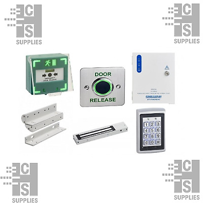 Deluxe Proximity Keypad Access Control Kit w/ No Touch Infrared Exit Button