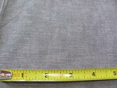 Vintage heathery black gray quilting weight cotton 33 wide x over 1 yard