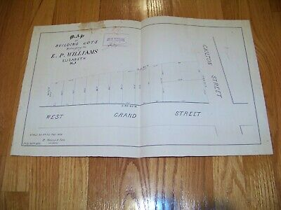 1870 Map E. P. Williams Elizabeth NJ James S. Vosseller P. Sours & Son