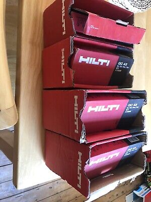 hilti gx3 nails 4 Boxes And 4 Gas Canisters BRAND NEW