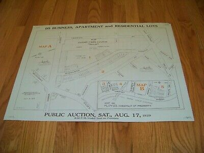 1929 Map Floyd's Union Center Property Union NJ Grassman & Kreh Elizabeth