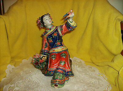 HUGE Chinese FIGURINE Delxue Genuine Shiwan Clay NEW N Box SALE Reg $100 See>>>