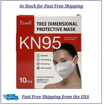 KN95 10 Pack  Disposable Face Mask Protective Respirator 4 Layer Protection