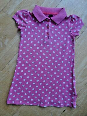 GAP girls pink cream spot summer polo dress AGE 3 YEARS EXCELLENT COND