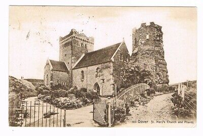 CPA n&b Dover, St Mary´s Church and Pharos - 1908