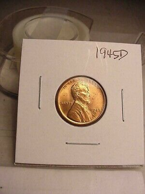 Brilliant Uncirculated Bu 1945 D Wheat Penny Cent