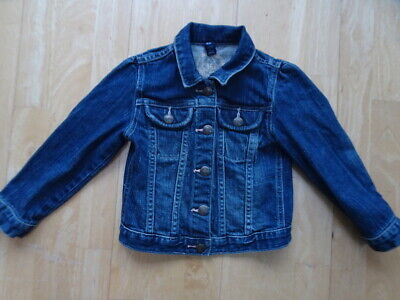 GAP girls dark blue denim jeans jacket coat AGE 4 YEARS EXCELLENT COND
