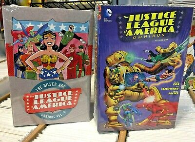 JUSTICE LEAGUE of AMERICA OMNIBUS VOL 1 & 2 HC Silver Age NEW FACTORY SEALED!